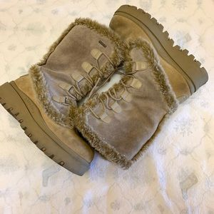 Skechers Suede Faux Fur Winter Boots